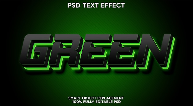 Green text effect template