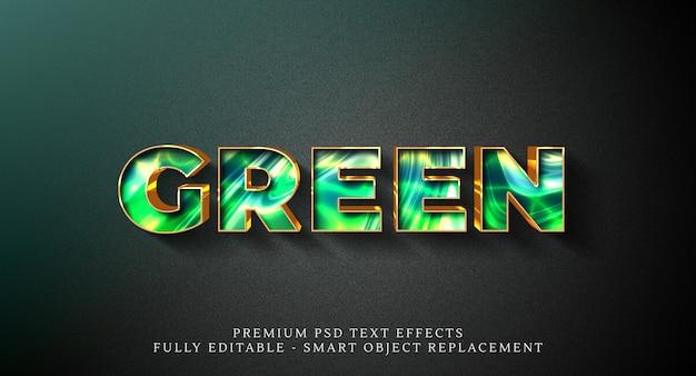 녹색 텍스트 스타일 효과