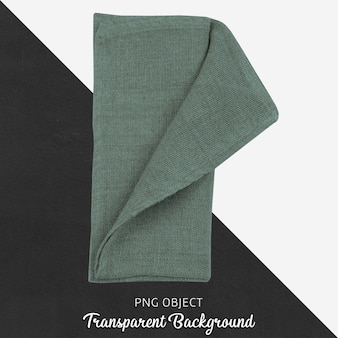Зеленый текстиль на прозрачном фоне