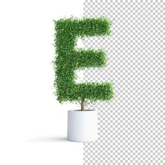 緑の木のアルファベット文字e