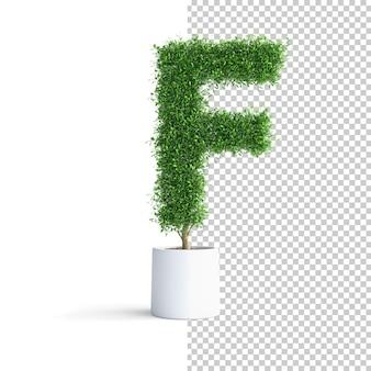 緑の木のアルファベット文字f