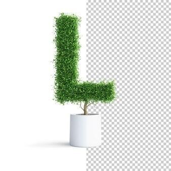 Буква j алфавита зеленого дерева