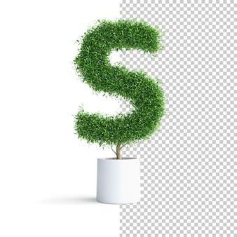 緑の木のアルファベット文字s