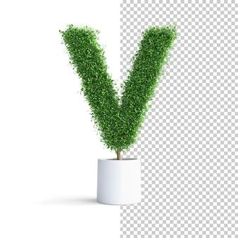 緑の木のアルファベット文字v