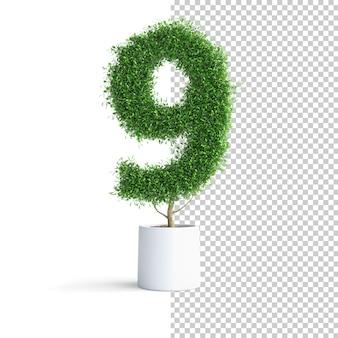 Зеленое дерево номер 9