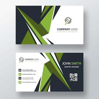 Green visit card design