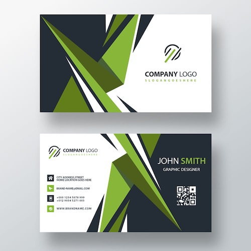 green visit card design