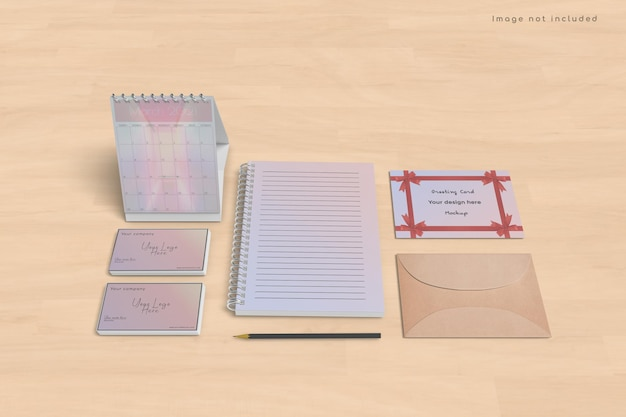 인사말 카드 및 달력 모형 디자인