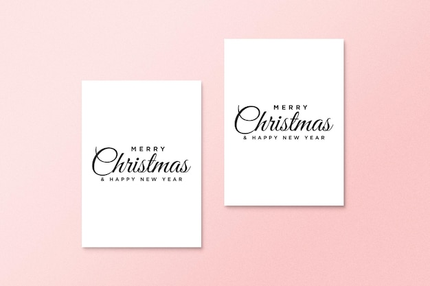Greeting card mockup with christmas concept psd