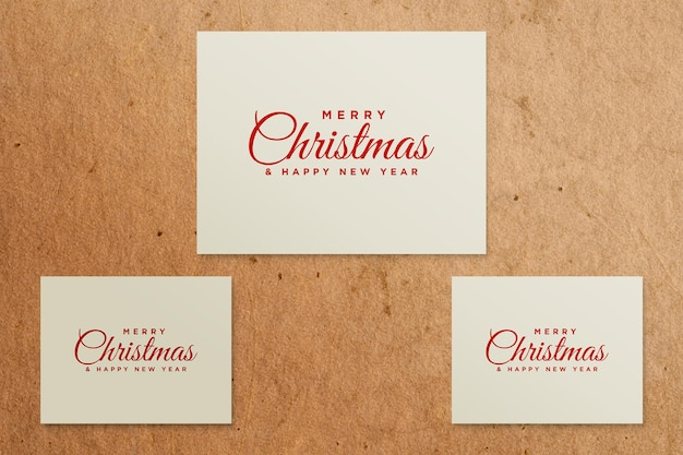 Greeting card mockup with christmas concept