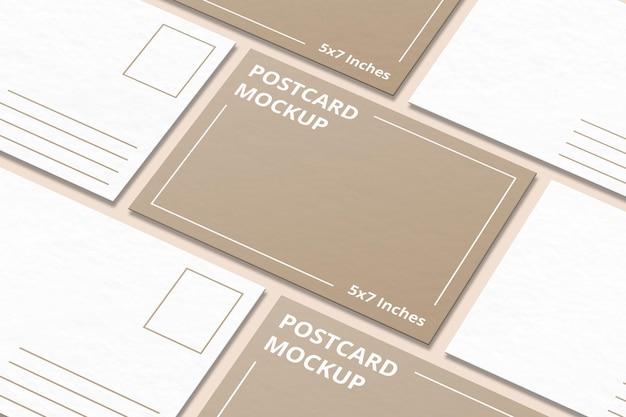 인사말 카드 또는 엽서 모형 디자인