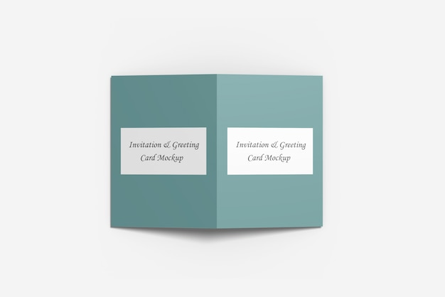 Greeting or invitation card mockup