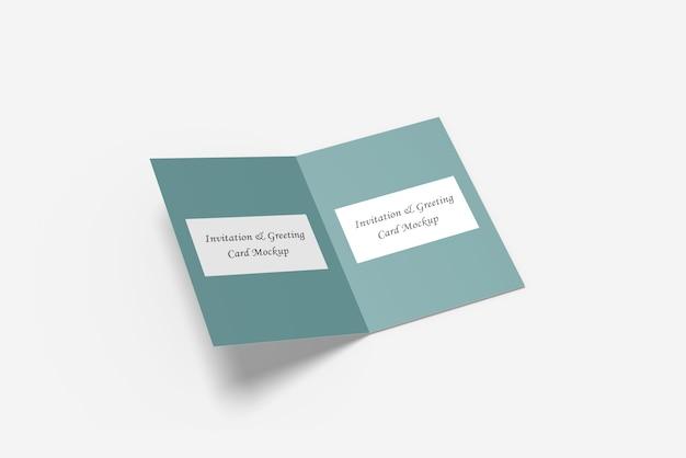 グリーティングカードまたは招待状カードモックアップ