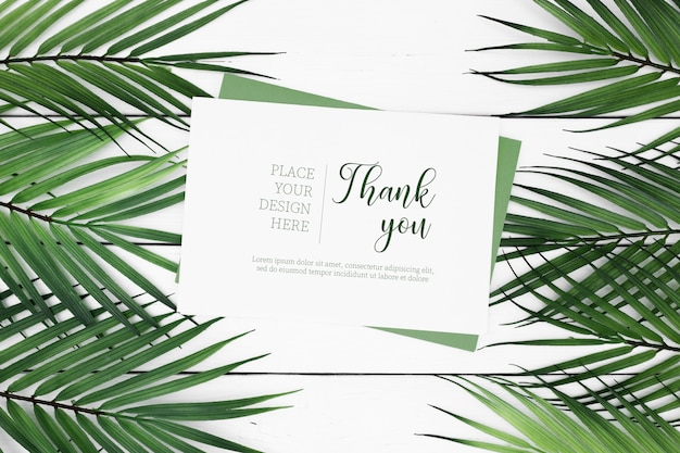 Greeting tropical card