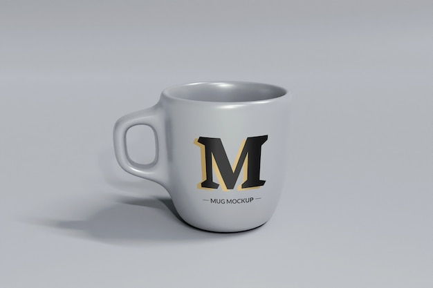 分離された灰色のコーヒーマグモックアップ