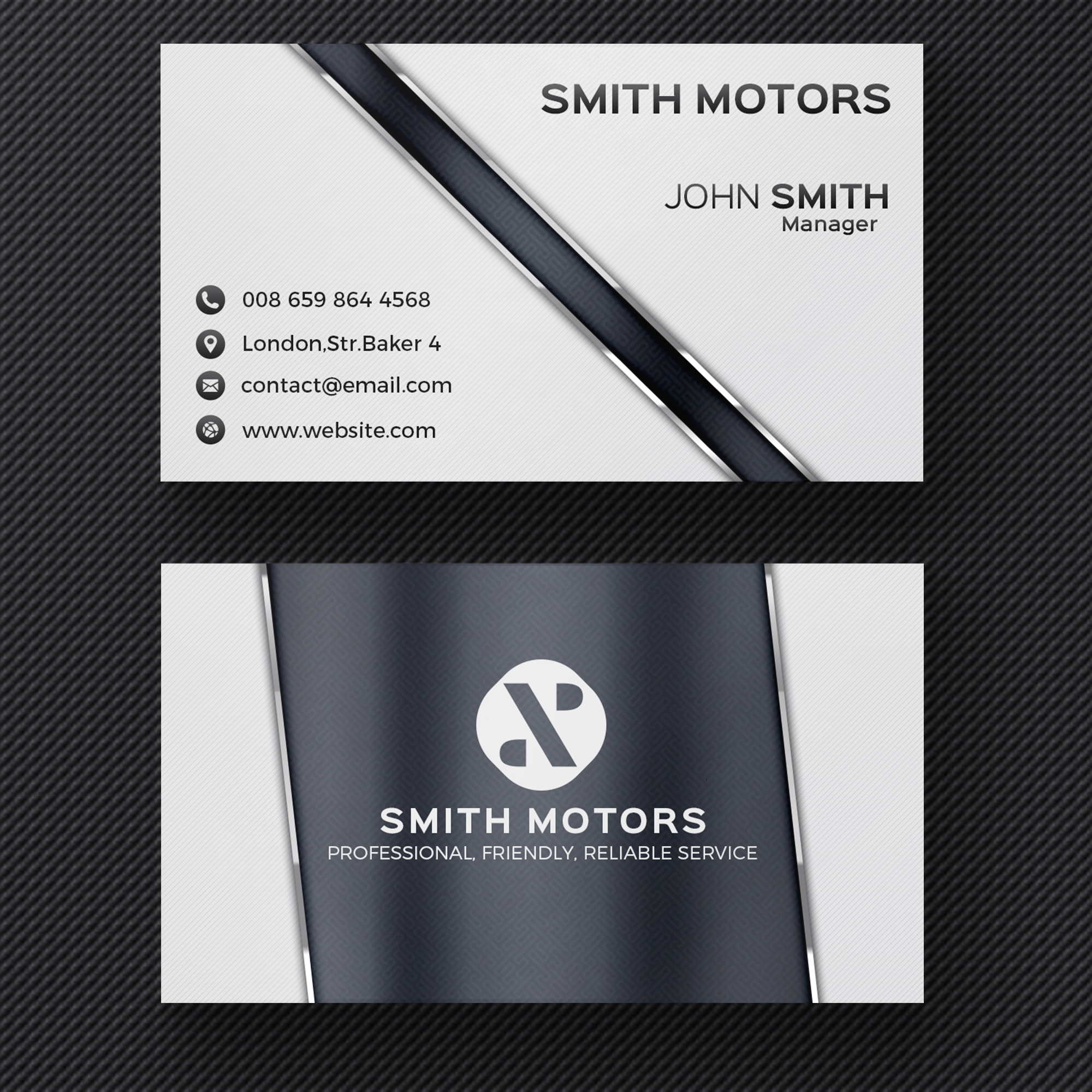 Grey corporate business card