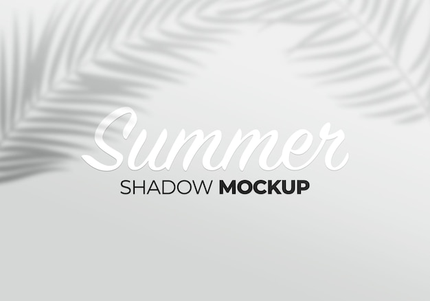Grey overlay effect mockup of palm leaves transparent shadows
