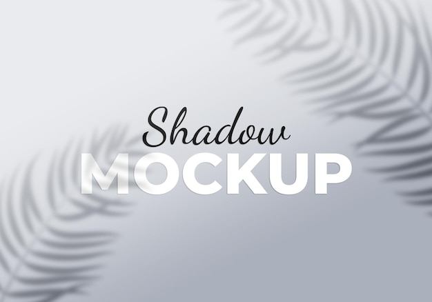 Grey overlay effect of transparent shadows with palm leaves