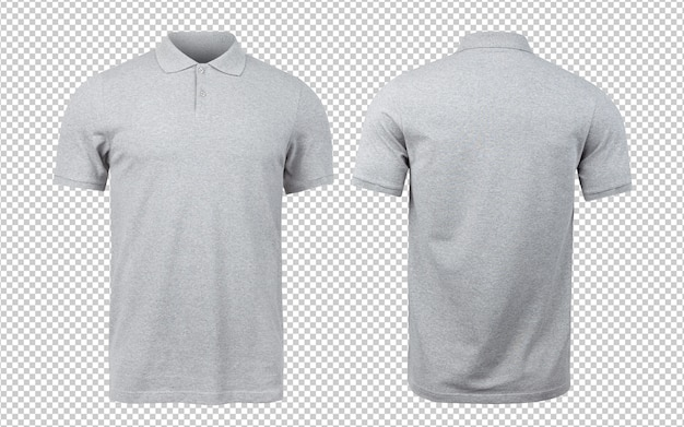 Grey polo mockup front and back   .