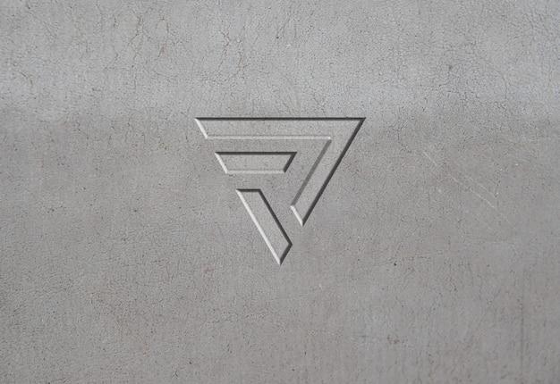 Grey stone texture logo mockup