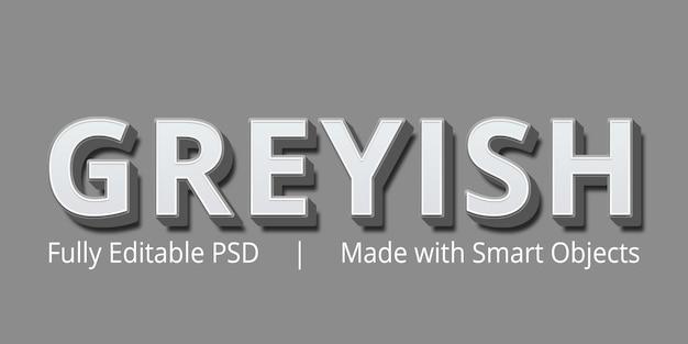 Greyish редактируемый текст стиль эффект макет