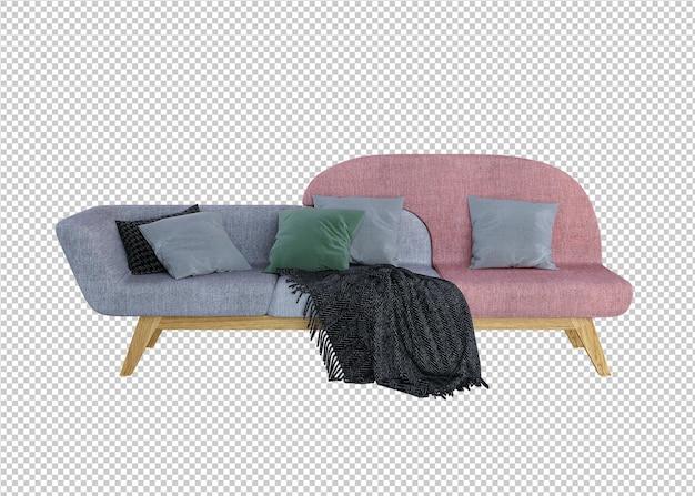 그리 펨 소파와 베개