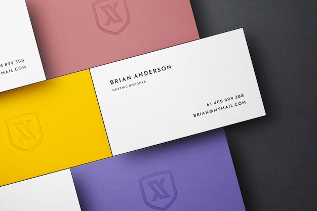 Grid scene business card mockup