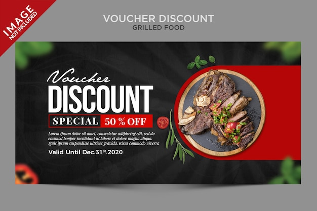 Grilled food voucher discount series