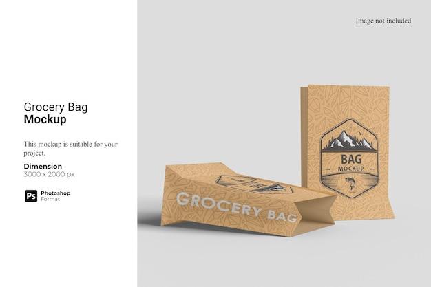 식료품 가방 모형