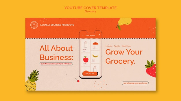 식료품 배달 서비스 youtube 표지 템플릿