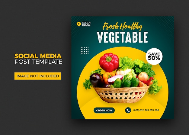 Grocery sale social media post template