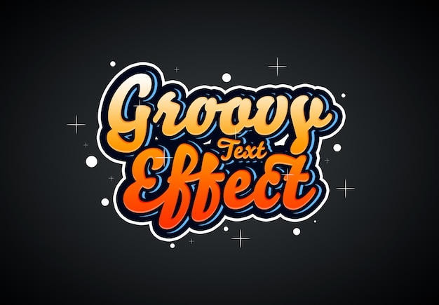 Groovy text effect