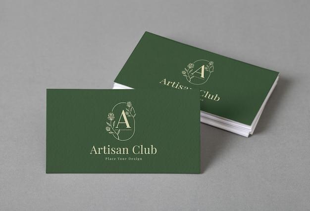 Группа минимального макета визитной карточки изолирована