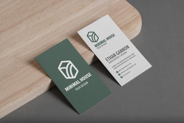 Группа минимального макета визитной карточки с офисом