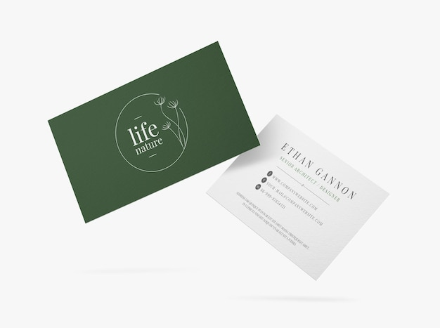 Группа минимального макета визитной карточки