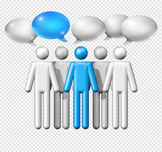 Группа фигурки людей с речью пузыри
