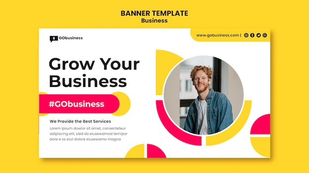 Grow your business banner template