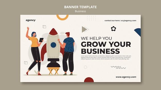 あなたのビジネスバナーテンプレートを成長させる