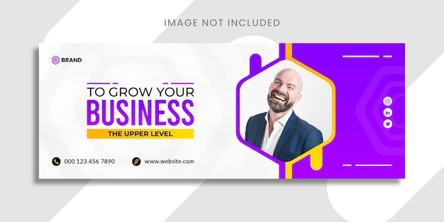 Grow your business facebook or social media banner templte