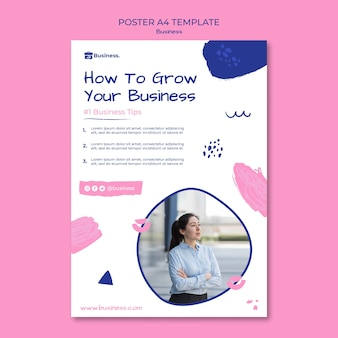 Grow your business poster template