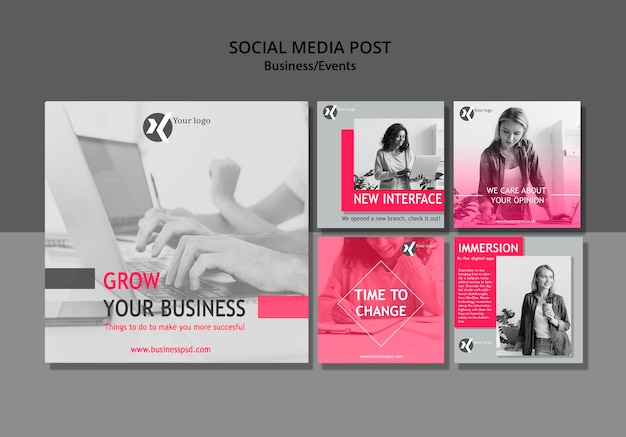 Grow your business social media post