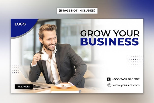 Grow your business web banner template