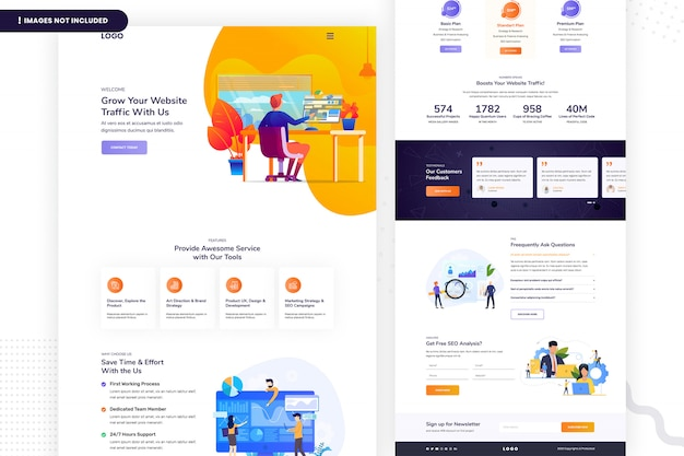 Grow your website traffic landing page template