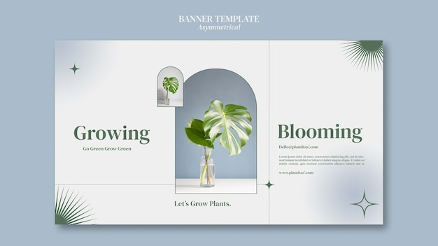 Выращивание растений баннер шаблон