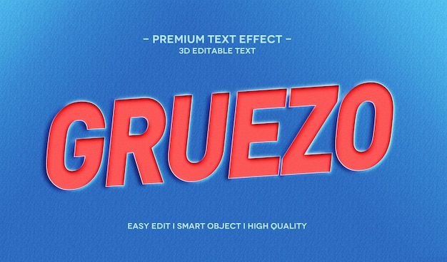 Gruezo 3d text style effect template