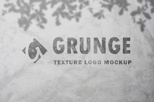 Grunge text effect mockup spray paint on old concrete texture