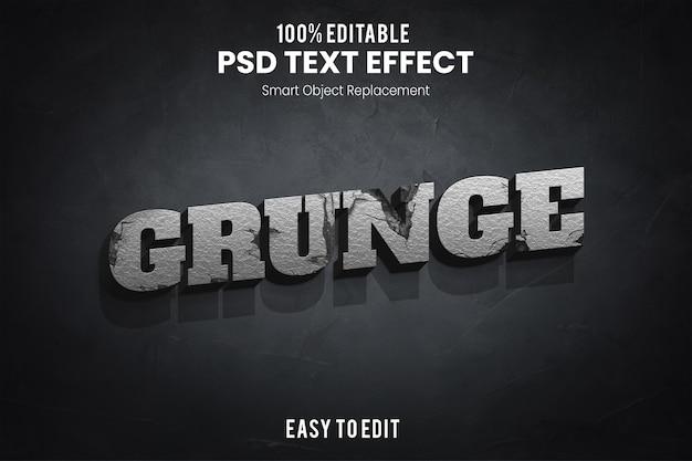 Текстовый эффект гранж