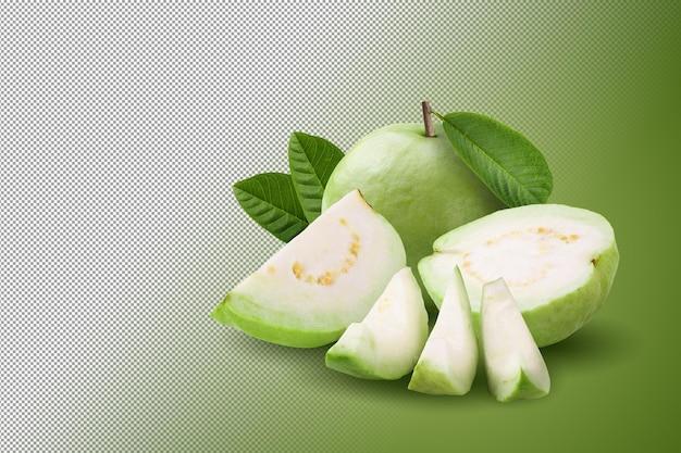 알파 배경에 고립 된 구아바 과일입니다.