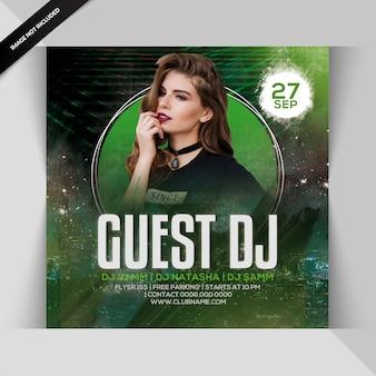 Guest dj party flyer