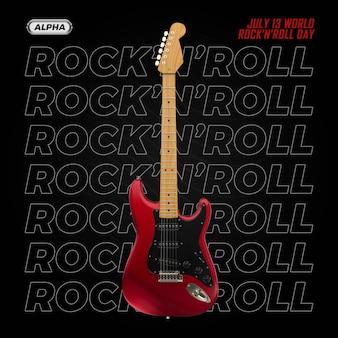 Гитара 3d визуализации изолированные